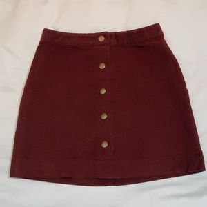 Old Navy Burgundy Corduroy Skirt size 2
